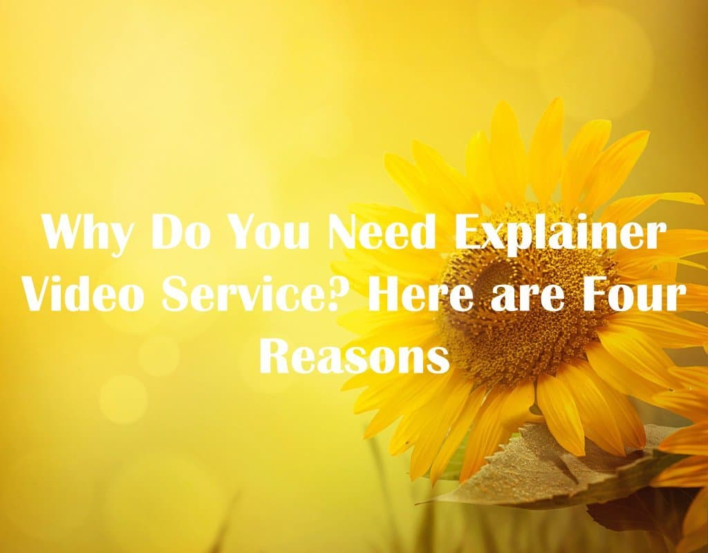 Why Do You Need Explainer Video Services? Here are Four Reasons